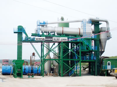 Auxiliary Stationary RAP Recycling Plant